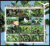 Tonga  2013 Yvertn° 1355-1366 *** MNH Cote 80 Euro Faune Oiseaux Vogels Birds - Tonga (1970-...)