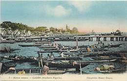 Pays Div -ref N933- Lagos - Native Canoes  - Carte Bon Etat - - Nigeria