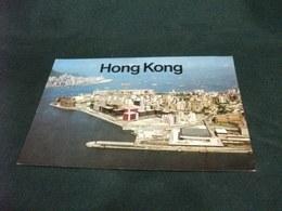 HONG KONG VISTA AEREA PIEGHETTA ANG. - Cina (Hong Kong)