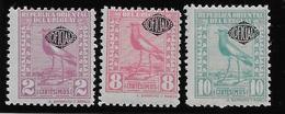 Uruguay Service N°140/142 - Oiseaux - Neuf * Avec Charnière - TB - Uruguay