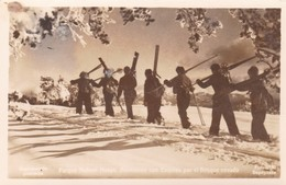 PARQUE NAHUEL HUAPI. ASENSION CON ESQUIES POR EL BOSQUE NEVADO. ARGENTINE CIRCULEE 1950 A BUENOS AIRES -BLEUP - Wintersport