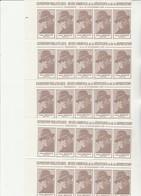 JEAN MOULIN - LOT DE 100 VIGNETTES EN BANDE DE 5 - EXPO MUSEE COMMUNAL RESISTANCE VENISSIEUX -1979 - Commemorative Labels