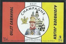 Etiquette CHAMPAGNE Thème Clown - Champagne