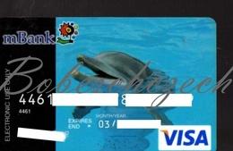 AK21 CZECH REPUBLIC  VISA MBank Formerly BRE Bank - MKonto - Delphin Valid 2014 - Cartes De Crédit (expiration Min. 10 Ans)