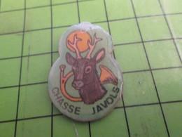 313k Pin's Pins / Rare Et Beau : ASSOCIATIONS / SOCIETE DE CHASSE DE JAVOLS COR CHEVREUIL - Associations