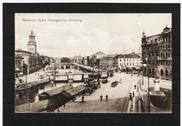 LKW586 KARTE POSTALE JAHR 1907 NORRA-OCH SÖDRA HAMNGATORNA GÖTEBORG Gebraucht  SIEHE ABBILDUNG - Schweden