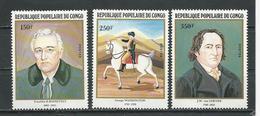 CONGO Scott 636-638 Yvert 667-669 (3) ** Cote 8,25 $ 1982 - Congo - Brazzaville
