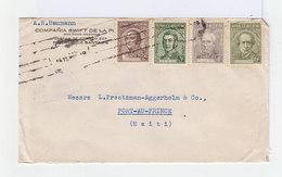 Sur Enveloppe Quatre Timbres Série Des Célébrité Oblitérés 1935 Cachets Et Lignes . CAD Port Au Prince 1935. (902) - Argentine