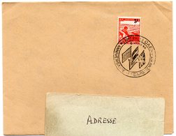 CALVADOS - Dépt N° 14 = CAEN 1946 = CACHET Illustré De 3 DRAPEAUX 'Anniversaire Debarquement Expo Phil ' - Guerre Mondiale (Seconde)