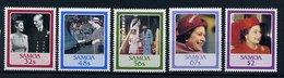 Samoa ** N° 607 à 611 - 60 Ans De La Reine Elizabeth II - Samoa