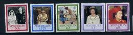 Seychelles ** 601 à 605 - 60 Ans De La Reine Elizabeth II - Seychelles (1976-...)