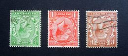 GB KGV 1924-26  SG418,419,420/Sc.#187,188,189  1/2d To 1 1/2d, Wmk 111 Block Cypher INVERTED, Used. (3 Stamps) - 1902-1951 (Rois)