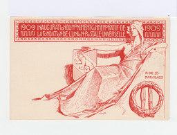 Carte Postale 10 C. Rouge Helvetie 1909 Inauguration Monument UPU.  (905) - Entiers Postaux
