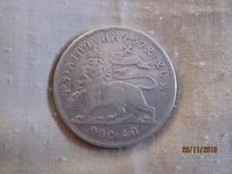 Ethiopia: 1/4 Birr 1889 EE Right Paw Up - Ethiopia