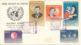 Paraguay FDC 30-7-1964 United Nations Complete Set Of 5 With Cachet - Paraguay