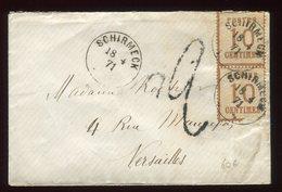 Enveloppe De Schirmeck Pour Versailles En 1871 , Taxée , Affranchissement Paire - N331 - Marcofilia (sobres)