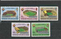 CONGO Scott C298-C292 Yvert PA298-PA292 (5) ** Cote 5,00 $ 1982 - Congo - Brazzaville