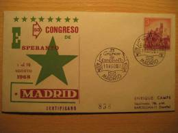 SPAIN Madrid 1968 Kongreso Esperanto Cancel Cover - Esperanto