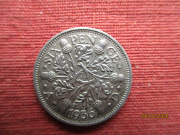 GB Six Pence 1936 - 1902-1971 : Monnaies Post-Victoriennes