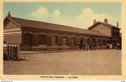 CHAULNES  La Gare  Carte écrite En 1950   2 Scans - Chaulnes