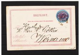 LKW592 SCHWEDEN 1886 BREFKORT STEMPEL SIEHE ABBILDUNG - Schweden