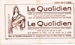 Le Quotidien Bon Buvard Journal ( Plié En Deux) - Autres