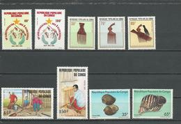 CONGO Scott 681-682, 678-680, 668-669, 676-677 Yvert 708-709, 705-707, 697 701, 683A-683B (9) ** Cote 8,25 $ 1983 - Congo - Brazzaville