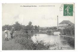 Mareuil Sur Le Lay  (cpa 85)  La Pêche Sur Les Bords Du Lay    -  L 1 - Mareuil Sur Lay Dissais