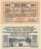 Bad Ischl, 1 Schein Notgeld 1920, Kruzifix Im Fluss Traun, Österreich 10 Heller, - Oesterreich