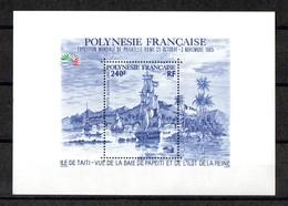 POLYNESIE FRANCAISE Yvert Bloc N° 11 Vue De La Baie De TAHITI - Blocs-feuillets