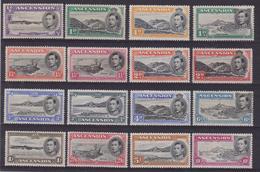 587 * Ascension - 1938/48 Giorgio VI Soggetti Vari SG N. 37b/47b. Cat. £ 250,00. MH - Ascensione