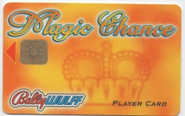 Carte De Slot Machine Casino Ou Centre De Jeux : Magic Chance Bally Wulff Player Card - Cartes De Casino