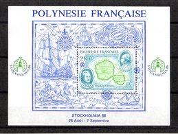 POLYNESIE FRANCAISE Yvert Bloc N° 12 STOCKHOLMIA 86 - Blocs-feuillets