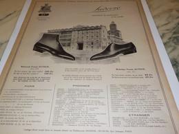 ANCIENNE PUBLICITE CHAUSSURE SADERNE REPRESENTE LA PERFECTION 1921 - Habits & Linge D'époque