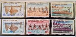 PECHE 1966 - NEUFS ** - YT 90/95 - MI 125/30 - Mali (1959-...)