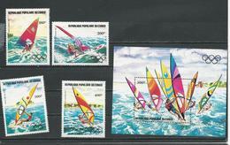 CONGO Scott C305-C308, C309 Yvert PA304-PA307, BF33 (4+bloc) ** Cote 14,00 $ 1983 - Congo - Brazzaville