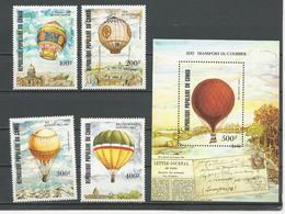 CONGO Scott C310-C313, C314 Yvert PA308-PA311, BF34 (4+bloc) ** Cote 16,50 $ 1983 - Congo - Brazzaville