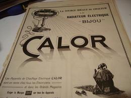ANCIENNE  PUBLICITE CHAUFFAGE ELECTRIQUE BIJOU  DE CALOR  1920 - Autres