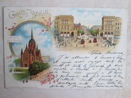 Gruss  Aus Berlin. 1897. Rare - Non Classés