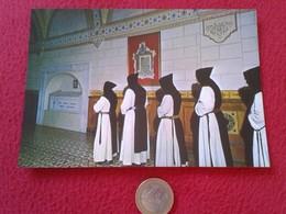 SPAIN POSTAL POSTCARD CARTE POSTALE MONJE MONK BONZE PALENCIA VENTA DE BAÑOS ABADÍA CISTERCIENSE SAN ISIDRO DUEÑAS MONKS - Religión & Creencias