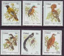 D90819 Ciskei South Africa 1981 BIRDS  ADDITIONAL VALUES MNH Set - Afrique Du Sud Afrika RSA - Ciskei