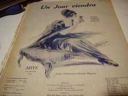 ANCIENNE PUBLICITE PARFUM UN JOUR VIENDRA  DE ARYS  1920 - Parfums & Beauté