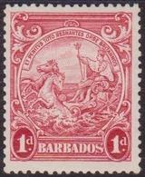 594 * Barbados 1938 Giorgio VI 1d Scarlatto SG N. 249. Cat. £ 275,00. MH - Barbados (...-1966)