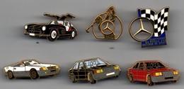 6 PIN'S MERCEDES SIGNES ARTHUS BERTRAND - Mercedes