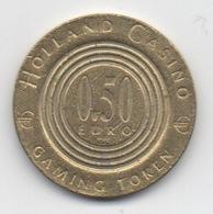 Jeton De Slot Machine à Sous : Holland Casino 0,50 Euro (Diamètre 25 Mm) - Casino