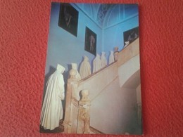SPAIN POSTAL POSTCARD CARTE POSTALE MONJE MONK BONZE ABADÍA CISTERCIENSE DE SAN ISIDRO DUEÑAS VENTA BAÑOS PALENCIA MONKS - Religión & Creencias