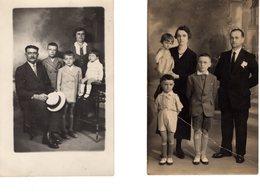 2 FAMILLES FRANCAISES D'AVANT 1940,  En Pied - Généalogie