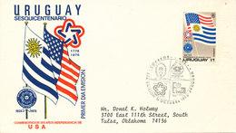 Uruguay FDC 14-10-1975 U.S. Bi-Centennial 1776 - 1976 With Cachet - Uruguay