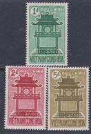Vietnam Du Sud N° 181 / 83  XX 15ème Anniversaire De L'U.N.E.S.C.O., Les 3 Valeurs Sans Charnière, TB - Viêt-Nam