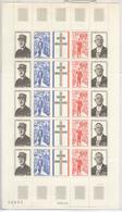 Feuille Complète Timbres France - De Gaulle 1971 YT 1695 à 1698 - Neufs - Feuilles Complètes